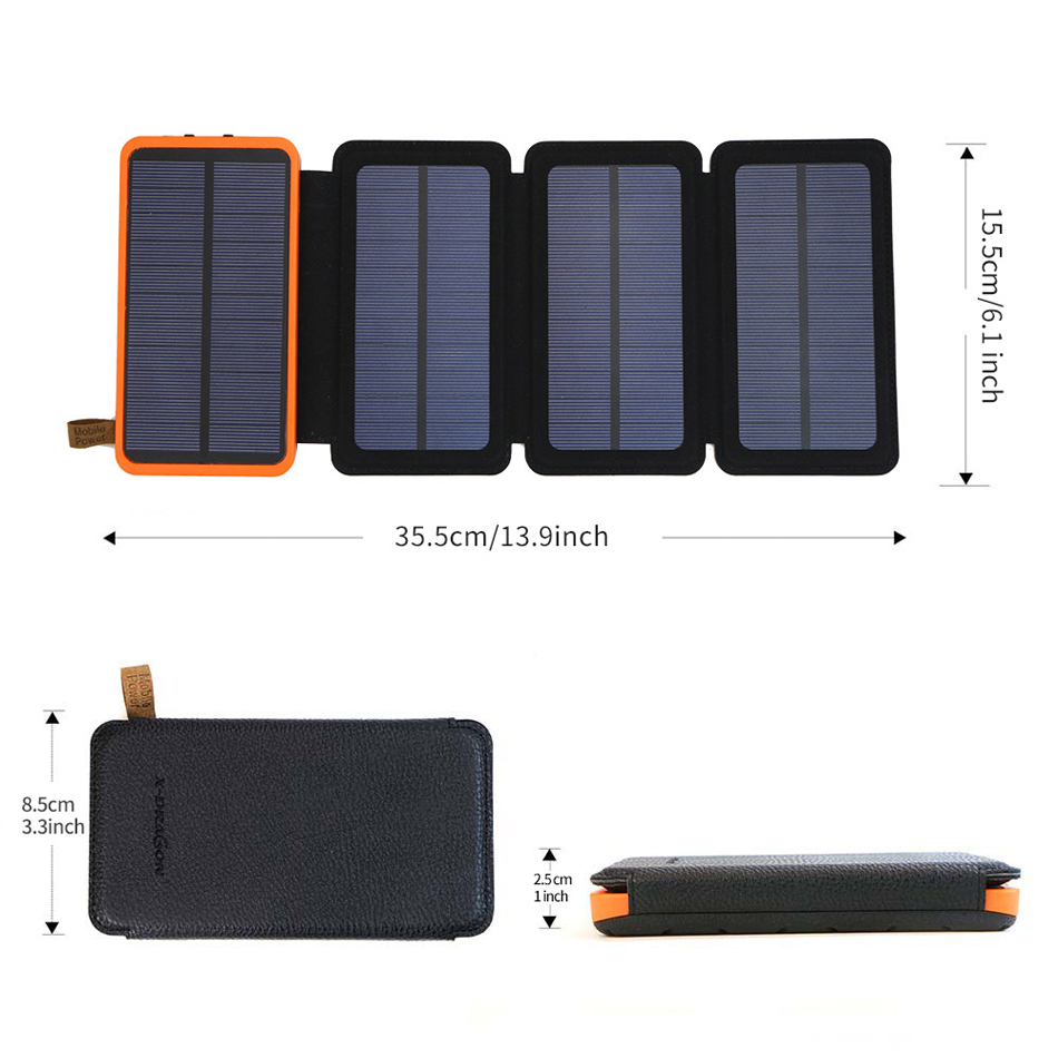folding solar panel power bank