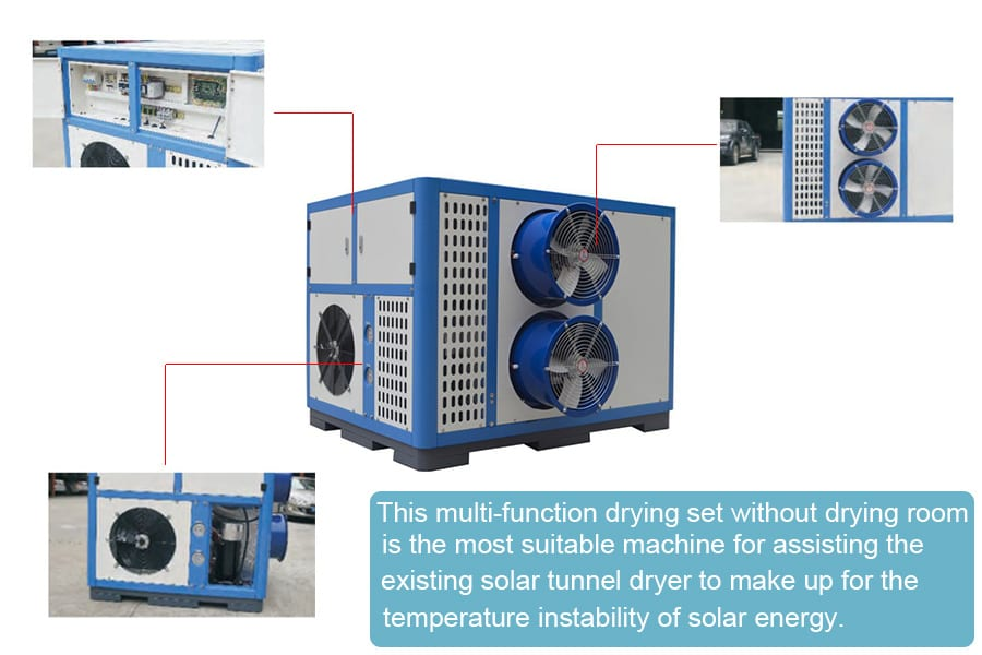 1 800kg heat pump dryer