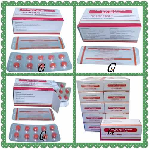 Analgesic Diclofenac Tablets