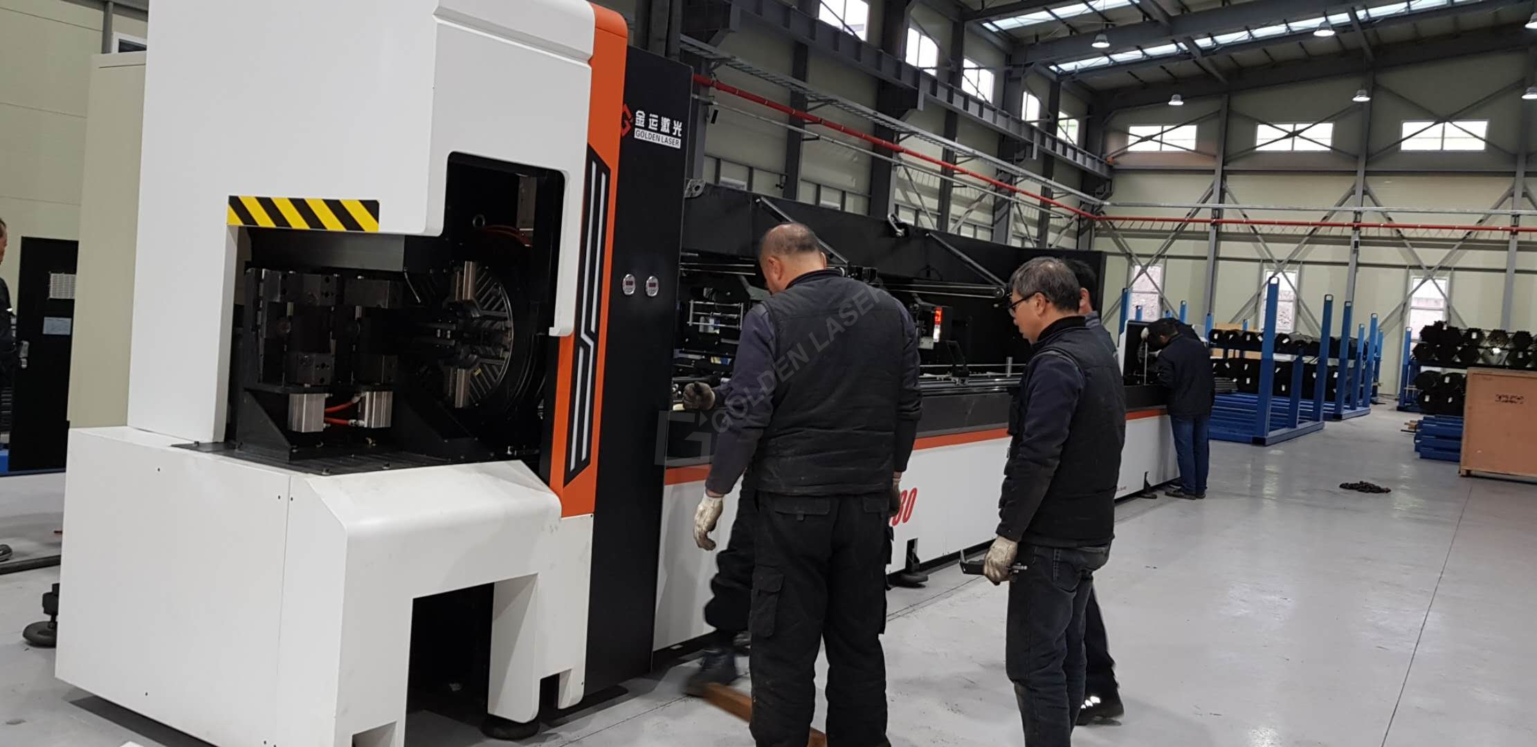 laser cutting machine for cross car beam