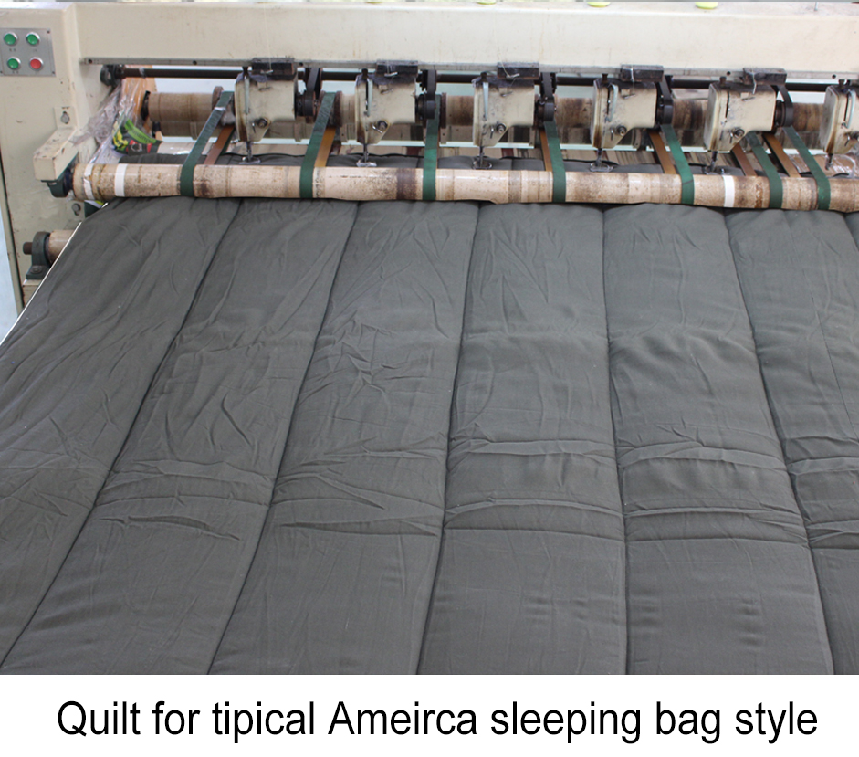 Quilt for tipical america sleeping bag style