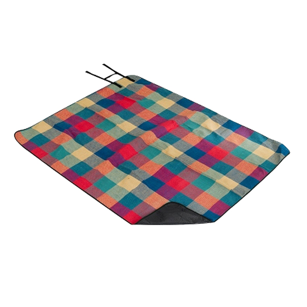 picnic blanket with handle sewed in