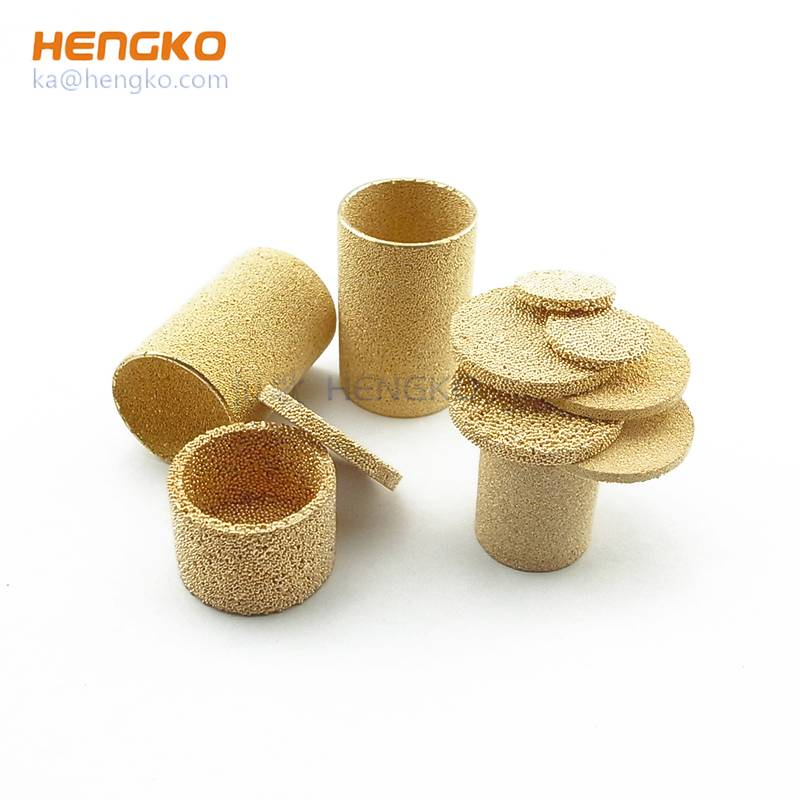 sintering porosity brass filter