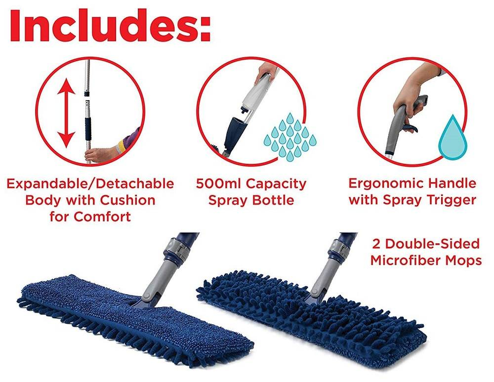 Flexible Microfiber Spray Mop (1)
