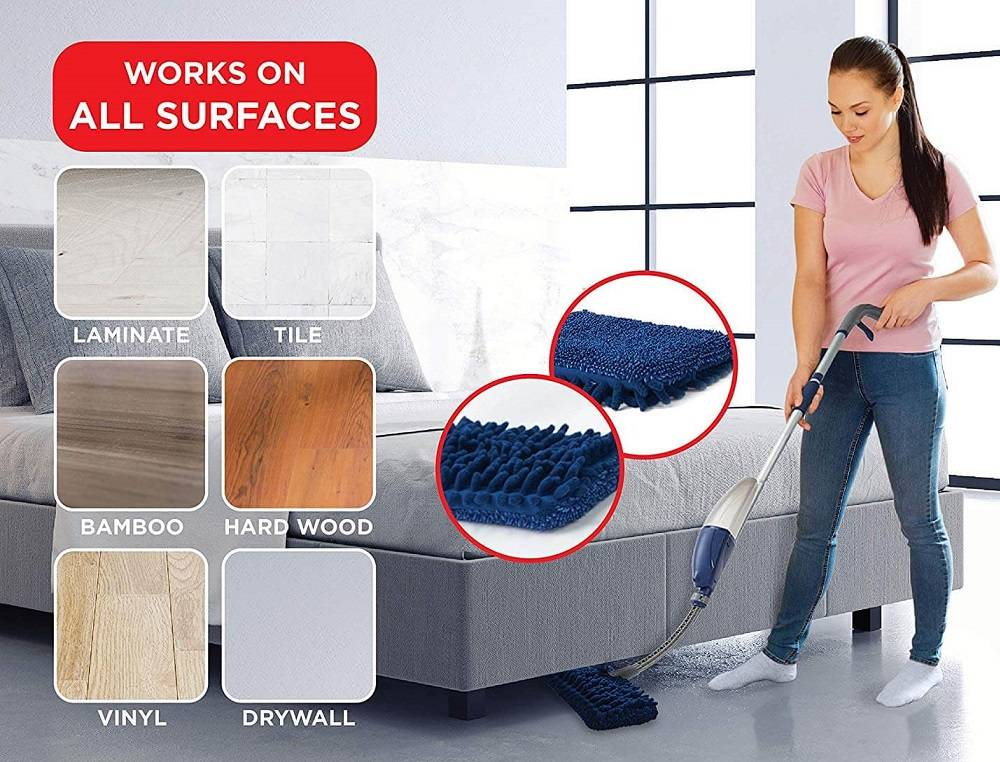 Flexible Microfiber Spray Mop (2)