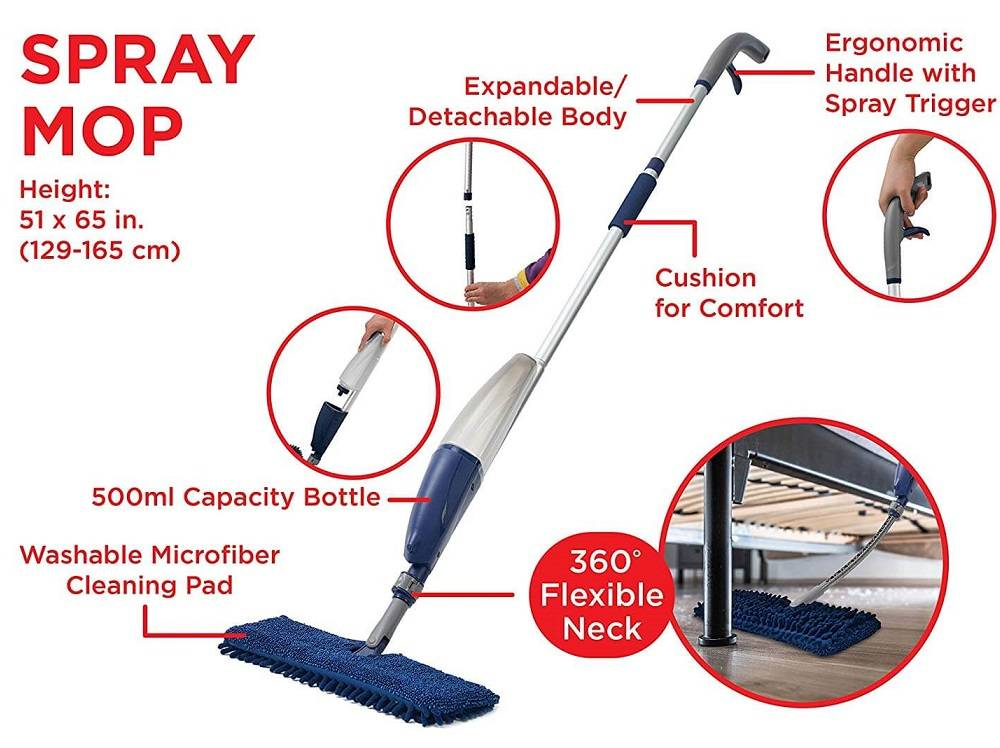 Flexible Microfiber Spray Mop (4)