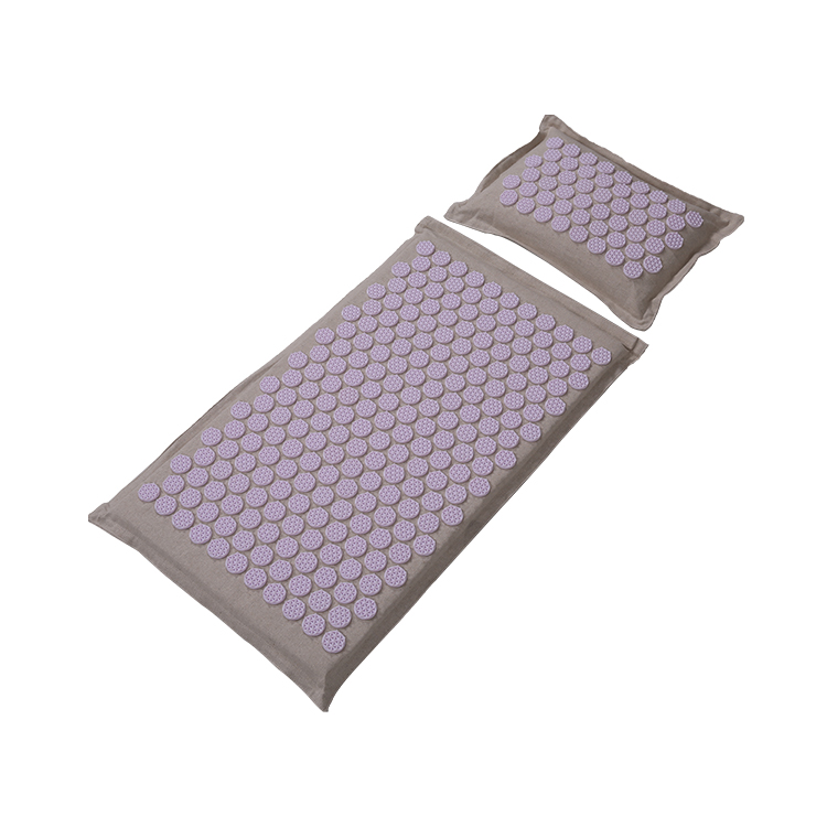 Top Quality Eco Acupressure Massage Mat Natural Organic Linen Cotton for Back and Neck,Acupuncture Mat And Pillow Set with Linen Carry Bag (1)