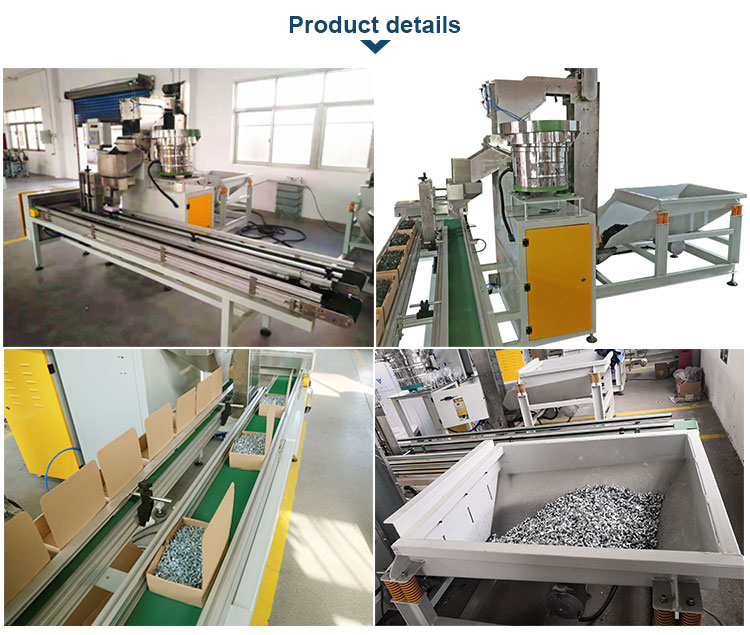 fastener filling in box packing machine