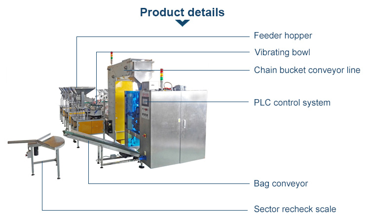 vibration bowl feeder packing machine