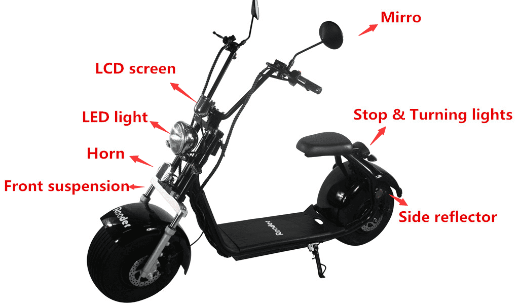 Citycoco electric scooter for adults with EEC & COC approval from Rooder
