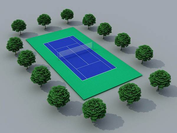 tennis court lay out