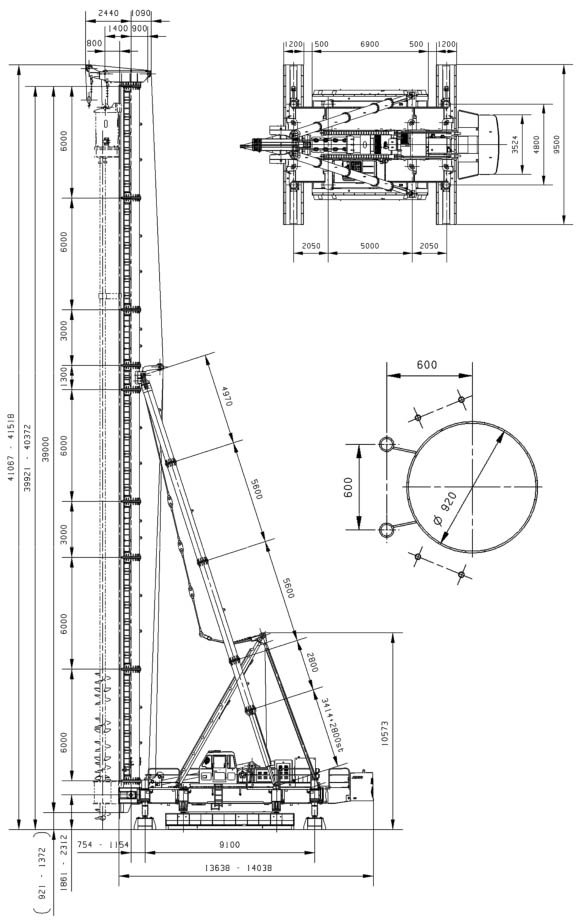 JB160A Hydraulic Walking Piling Rig3