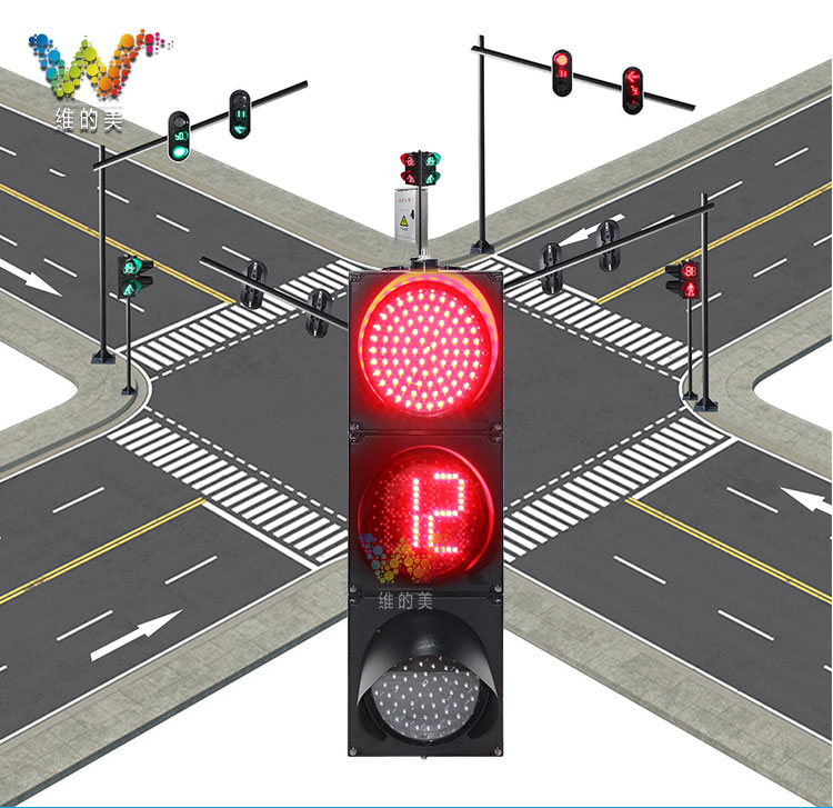 200mm traffic light countdown timer